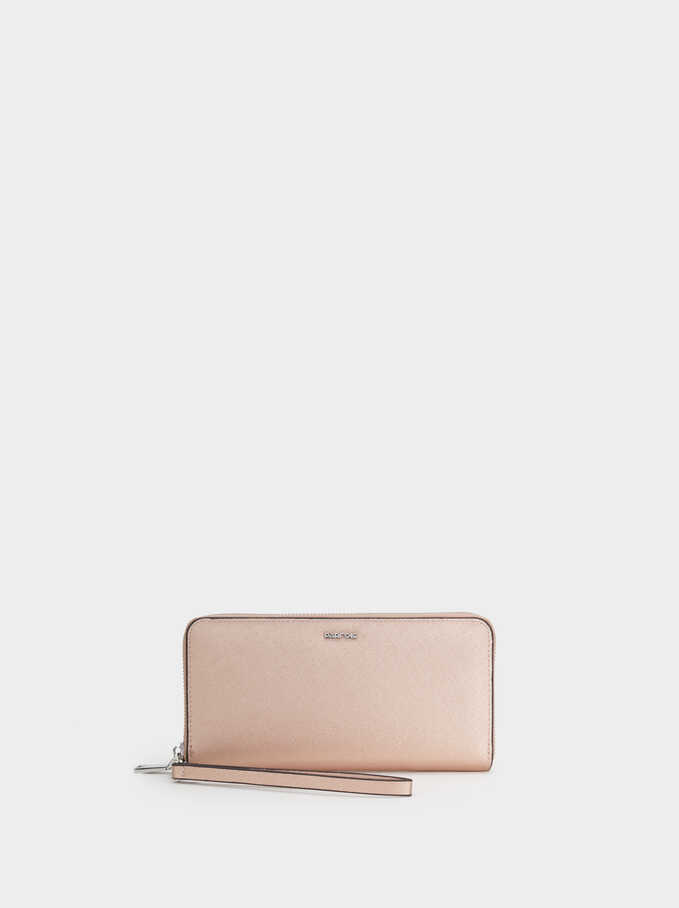 Purse With Handle, Orange, hi-res