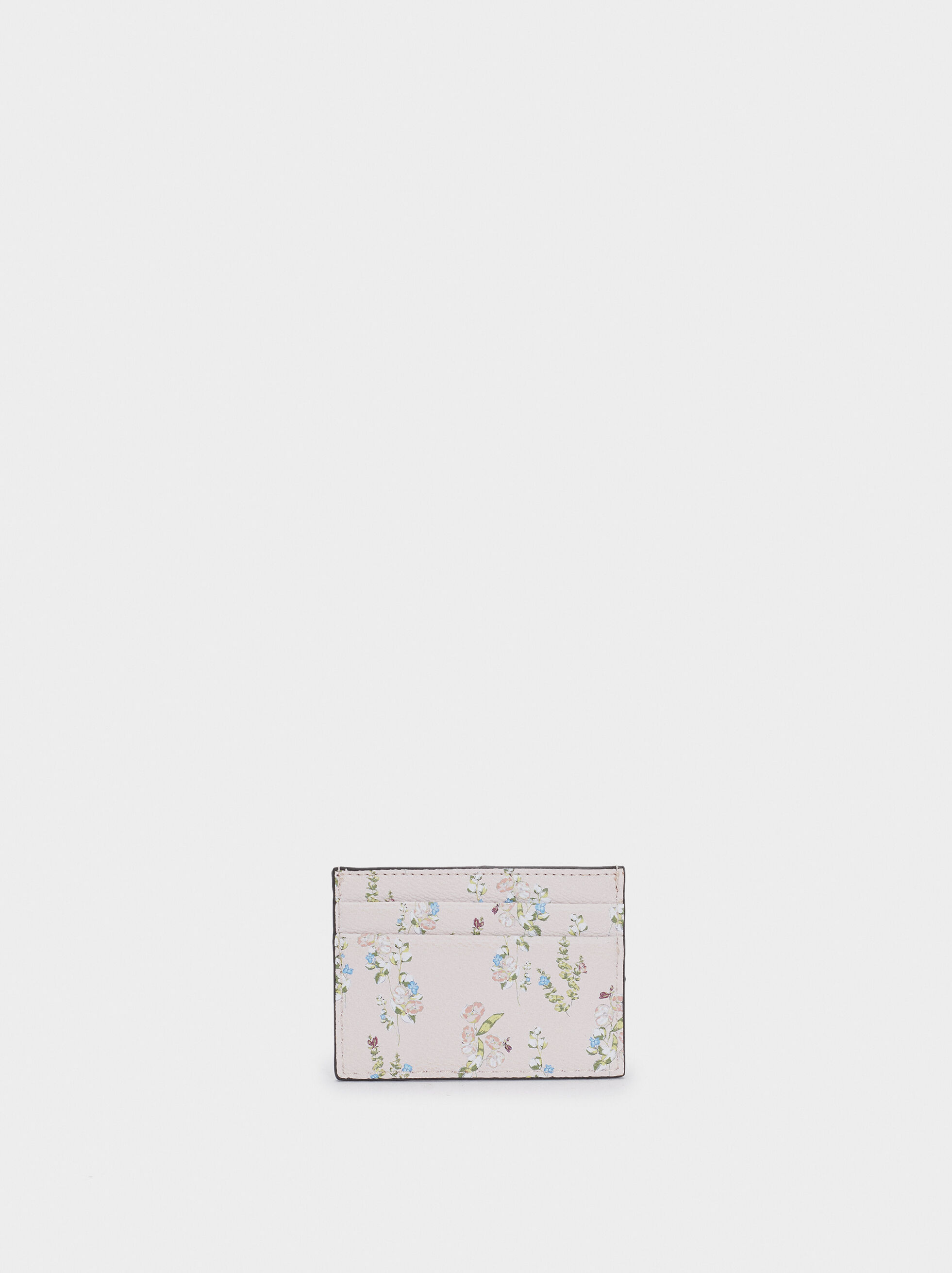 Floral Print Card Holder, Pink, hi-res