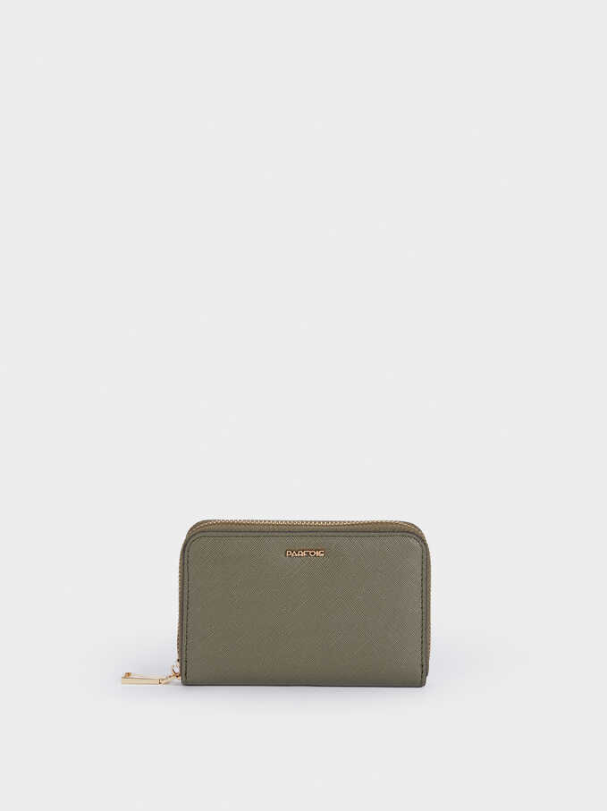 Zipped Purse, Khaki, hi-res