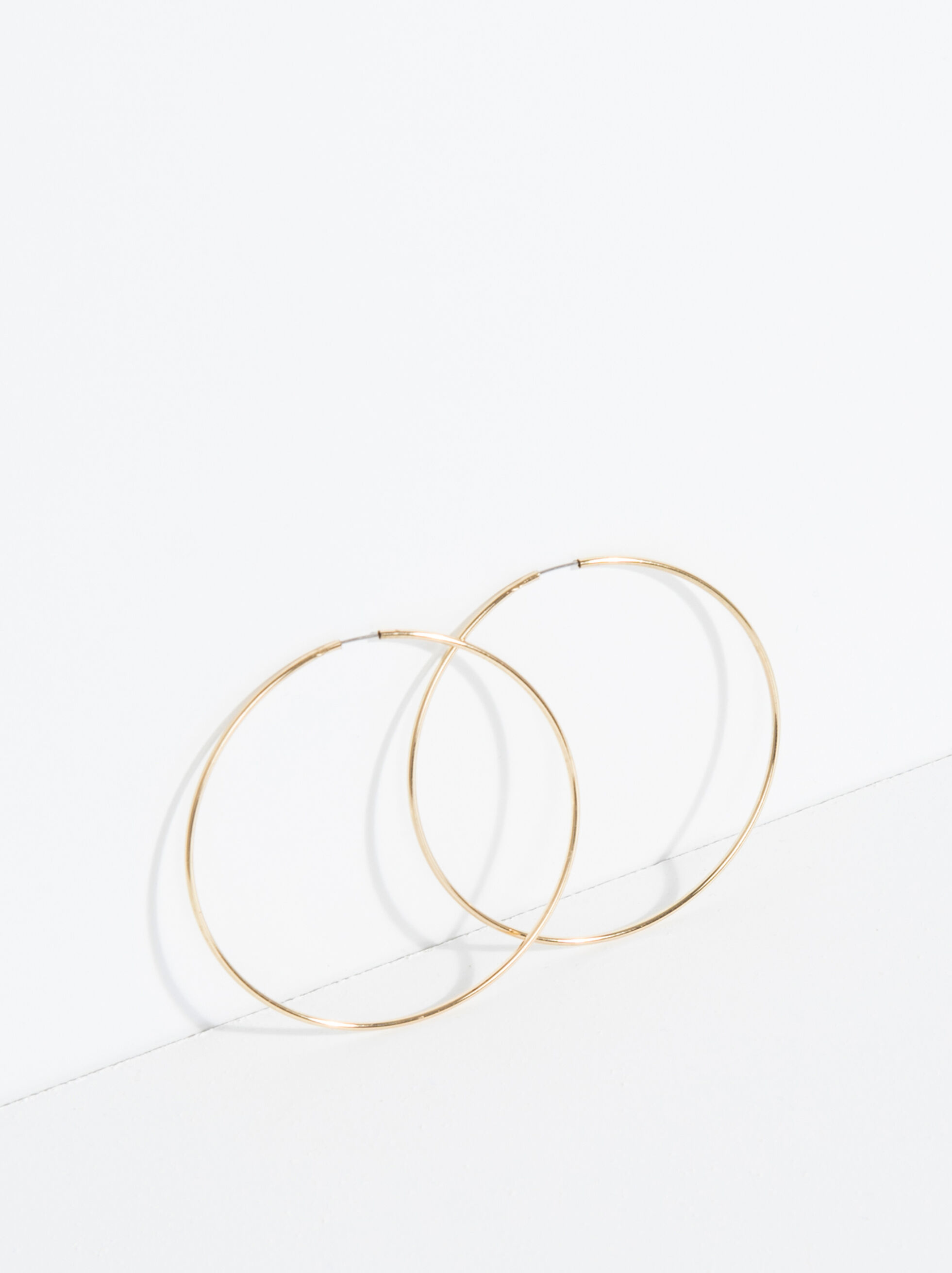 Basic Large Hoop-Earrings, , hi-res
