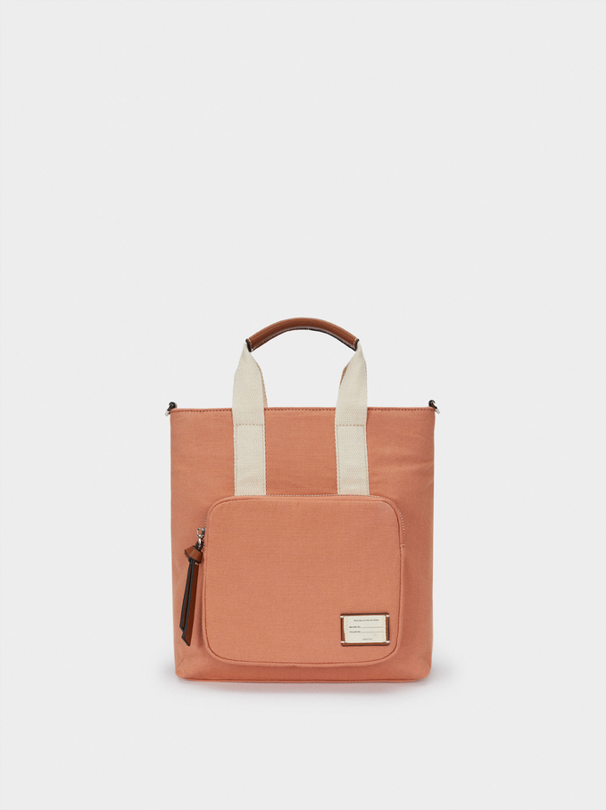 Multi-Way Canvas Backpack With Handles, Pink, hi-res