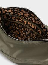 Nylon Crossbody Bag , Khaki, hi-res