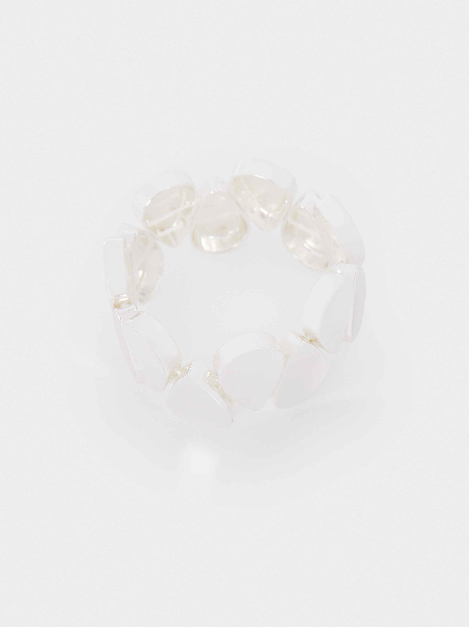 Silver-Plated Elasticated Bracelet, Silver, hi-res