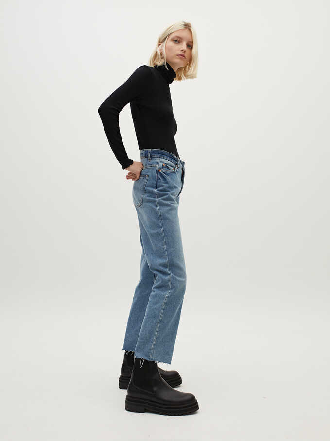 Straight Fit Jeans, Blue, hi-res