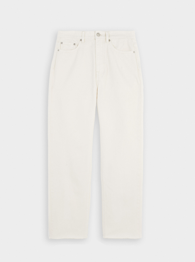 Straight Fit Jeans, Ecru, hi-res