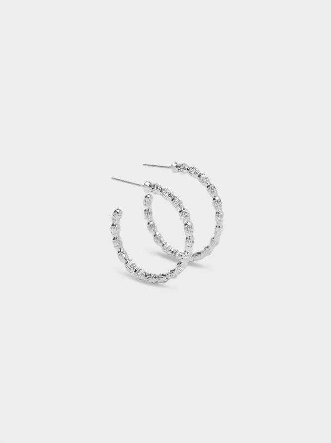 Hoop Fever Small Hoop Earrings , Silver, hi-res