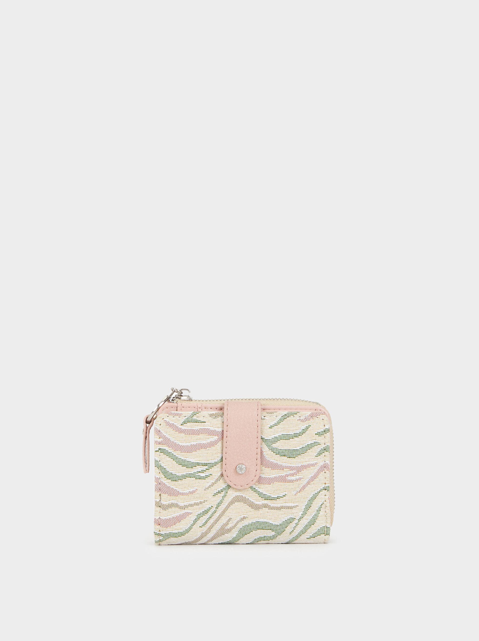 Small Printed Purse, Pink, hi-res