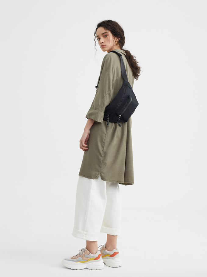 Dress With Pocket, Khaki, hi-res
