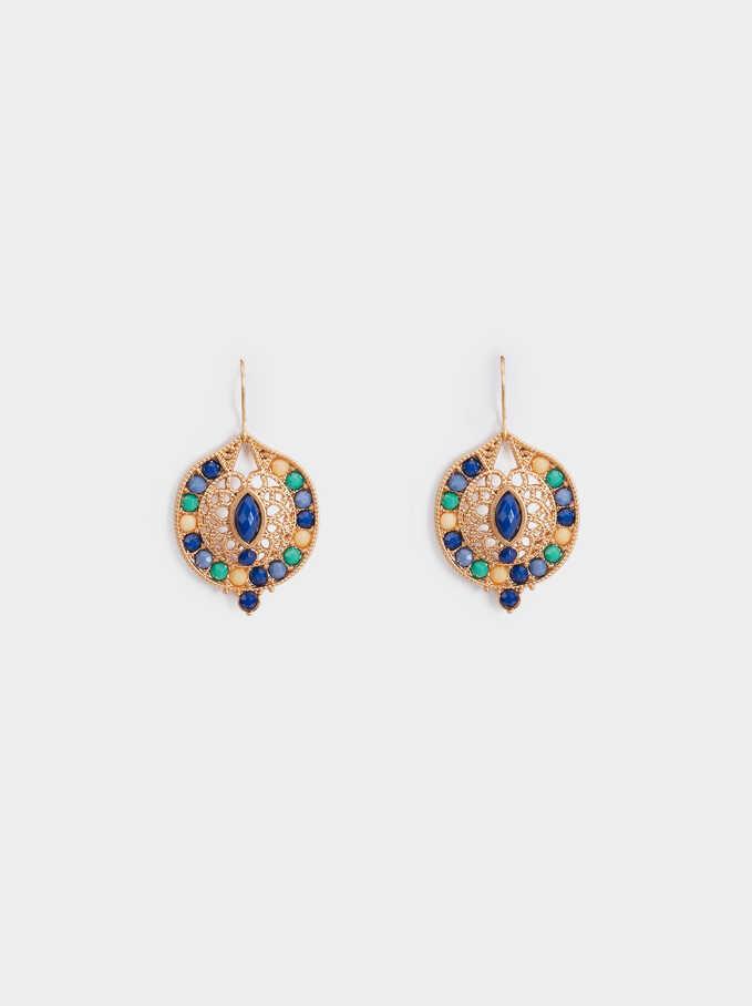 Zorba Medium Earrings, Multicolor, hi-res