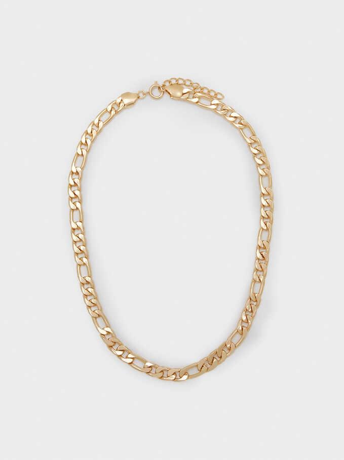 Short Chain Necklace, Golden, hi-res