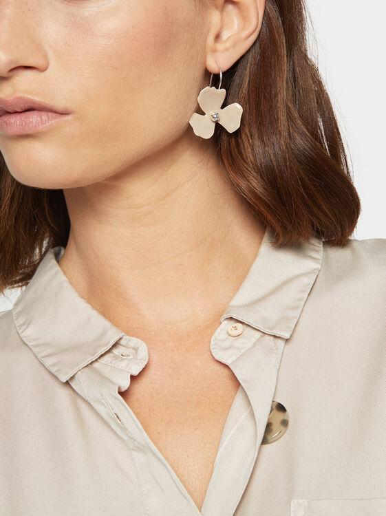 Magnolia Medium Flower-Shaped Earrings, Multicolor, hi-res