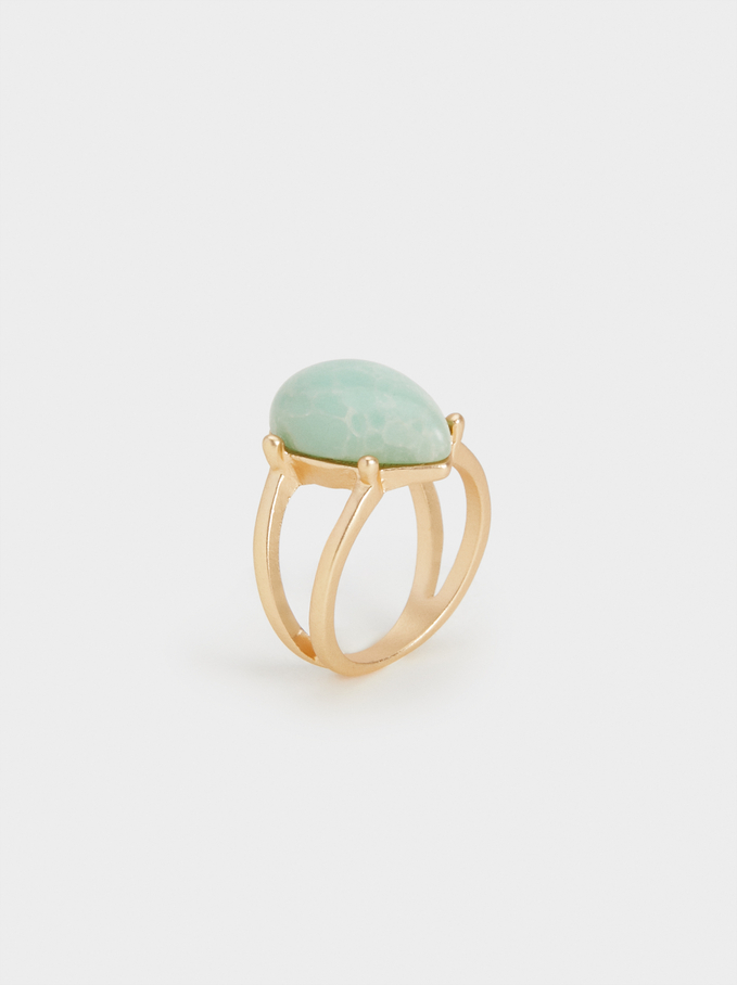 Stone Story Ring With Stone, Green, hi-res