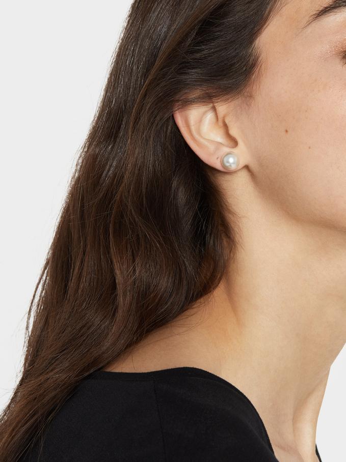 Basic Earrings, Beige, hi-res