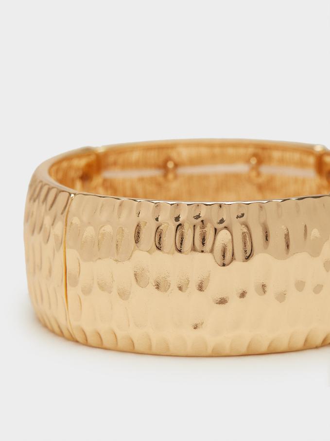 Gold Elastic Bracelet , Golden, hi-res