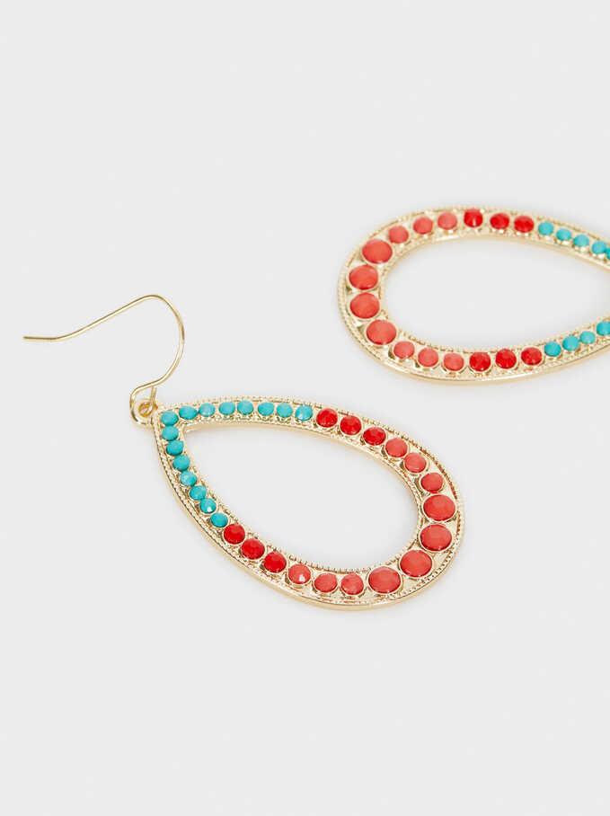 Recife Long Multi-Coloured Drop Earrings, Multicolor, hi-res