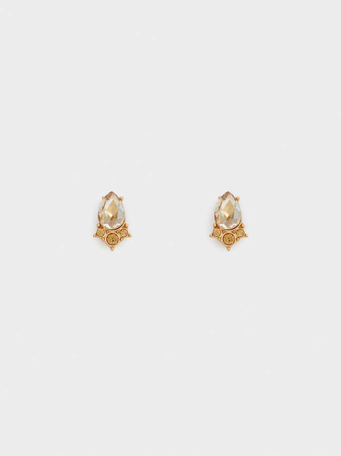 Frost Earrings, Orange, hi-res