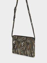 Floral Print Crossbody Bag, Green, hi-res
