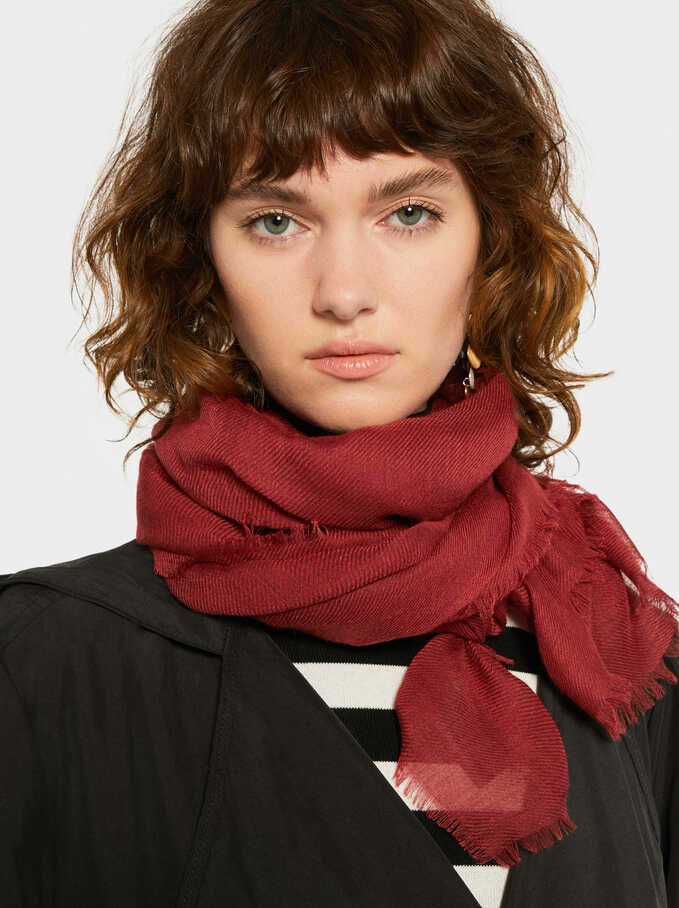 Basic Basic Scarf, Brick Red, hi-res