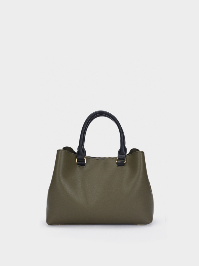 Tote Bag With Removable Strap, Khaki, hi-res