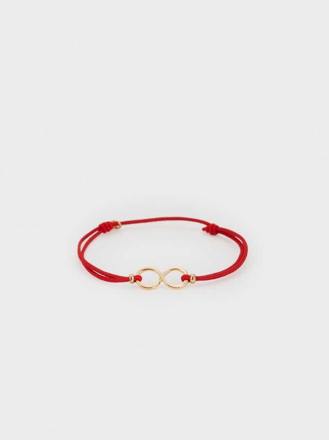 Black And Red Elastic Bracelet, Red, hi-res