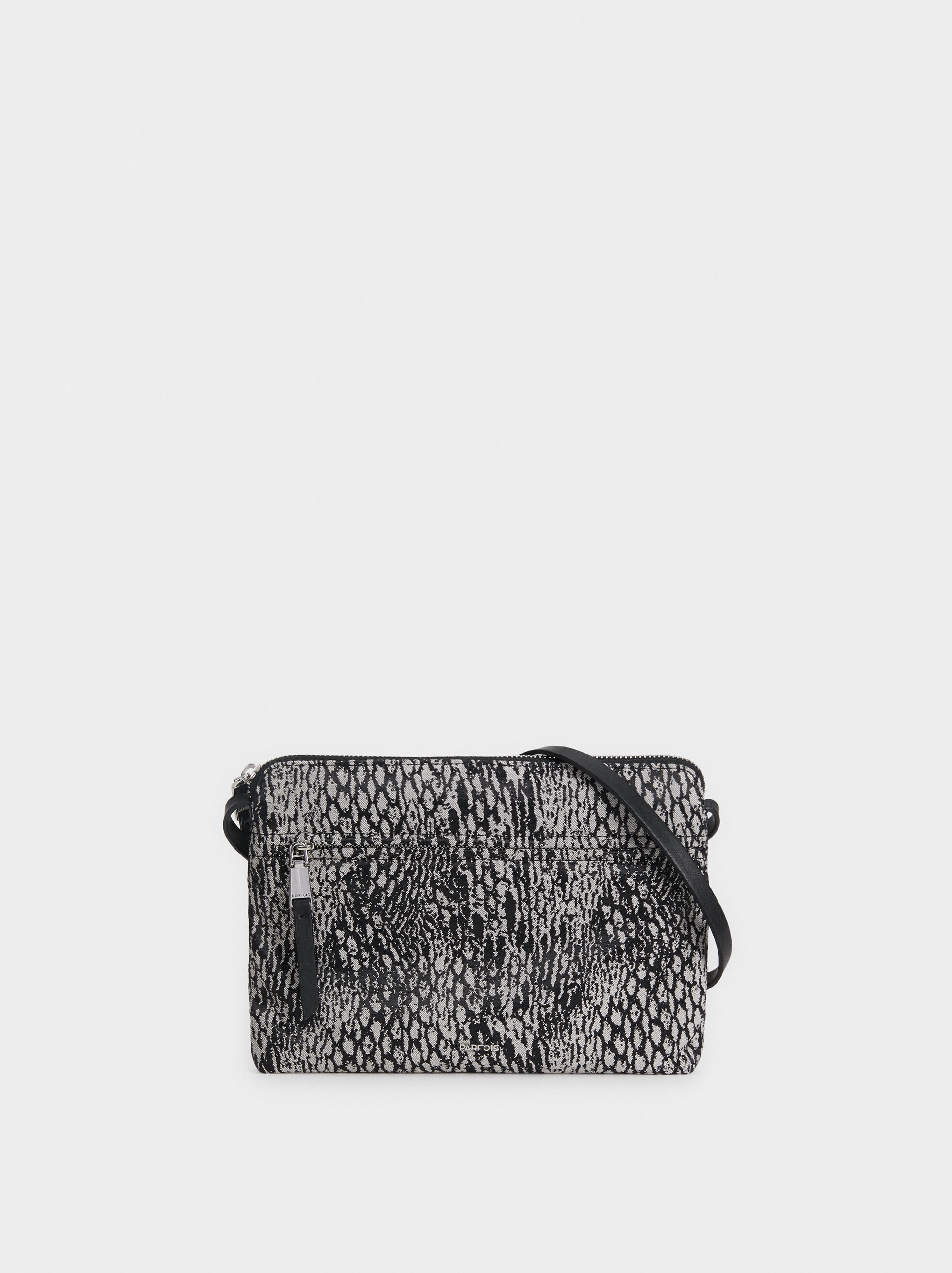 Plain Crossbody Bag With A Snakeskin Print, , hi-res