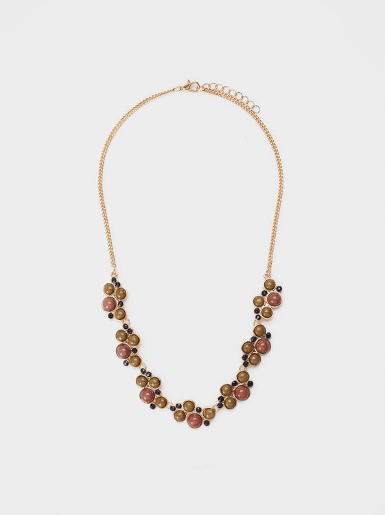 Savage Sparkle Short Necklace, Multicolor, hi-res