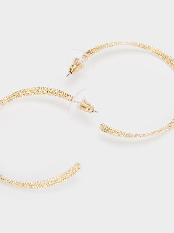 Large Gold Hoop Earrings, Golden, hi-res