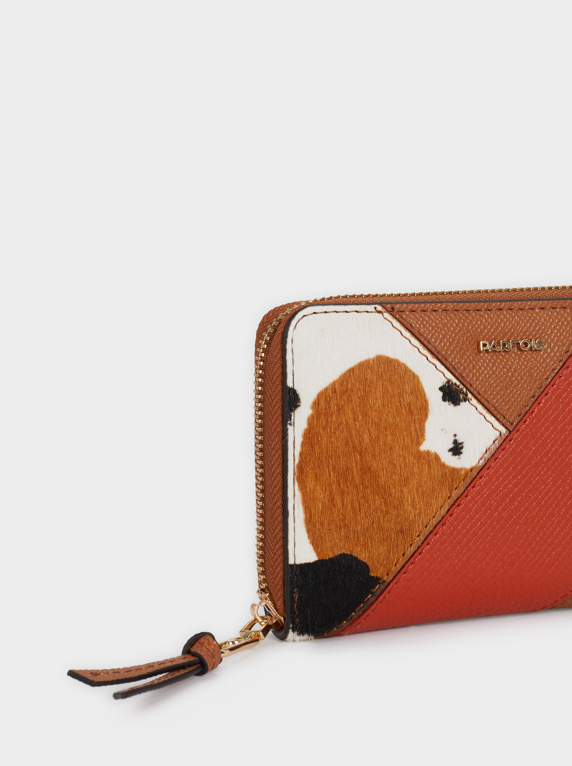 Patchwork Design Purse, Camel, hi-res