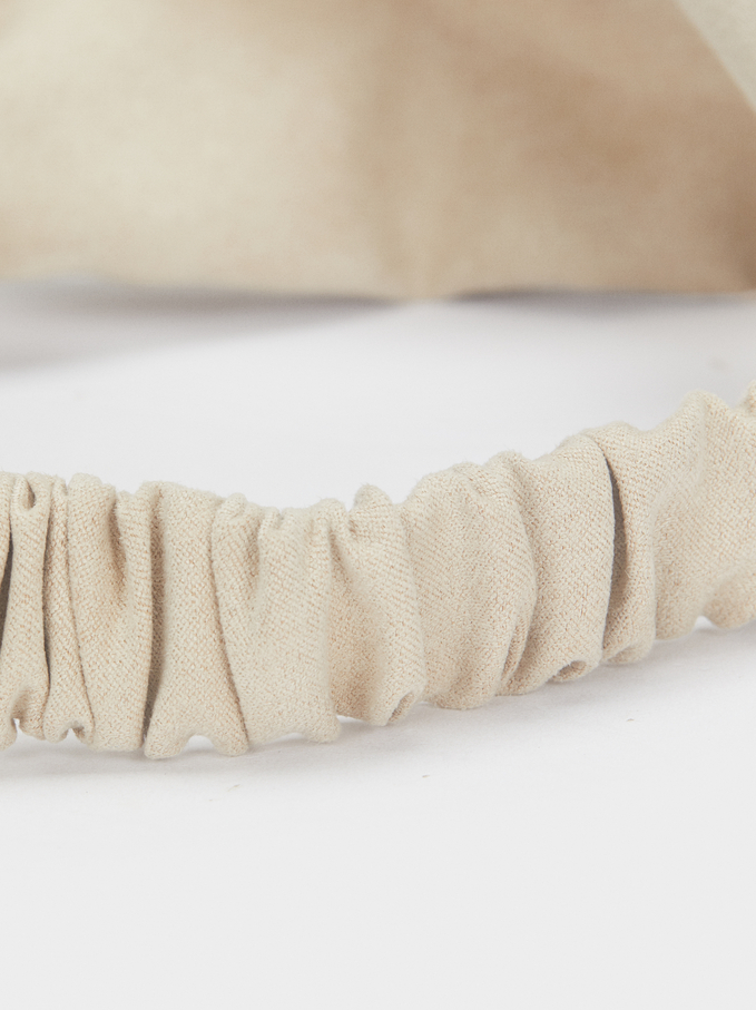 Diadema Turbante Lisa, Beige, hi-res