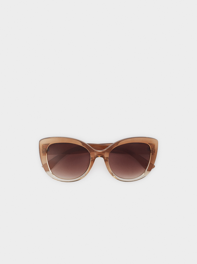 Resin Sunglasses, Camel, hi-res