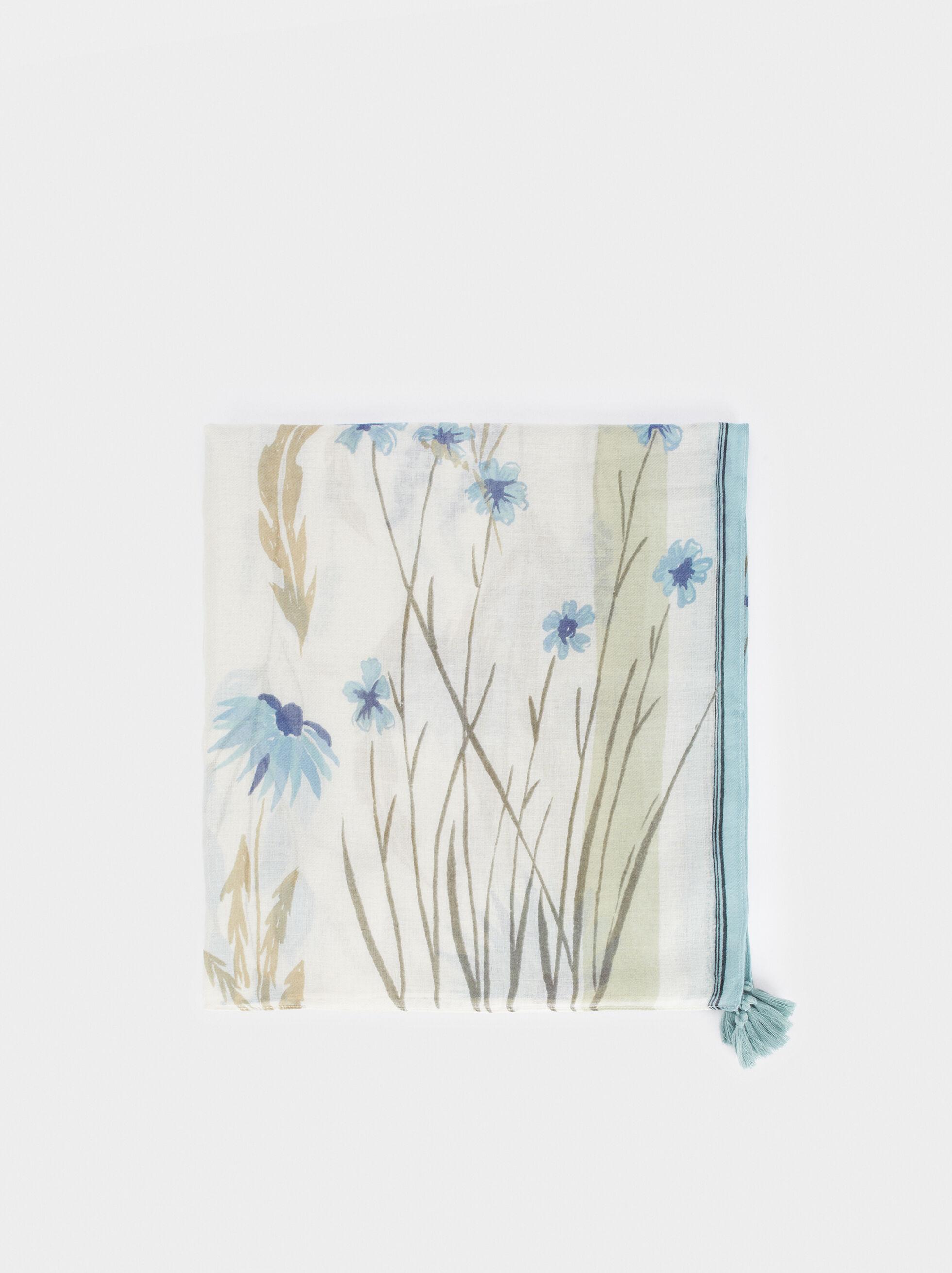 Foulard À Imprimé Floral, , hi-res