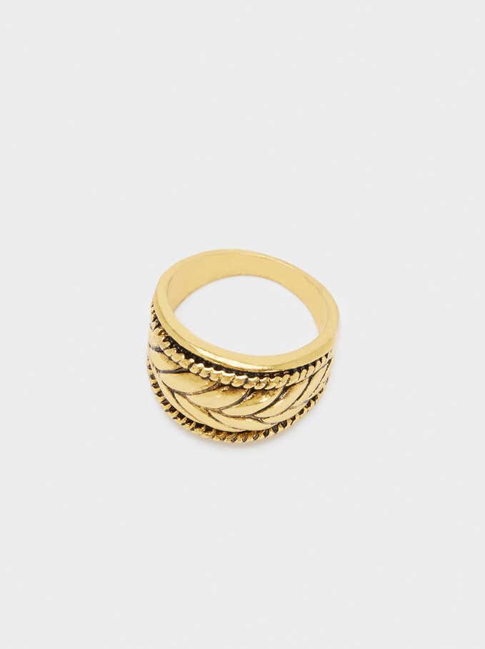 Leaf Ring, Golden, hi-res