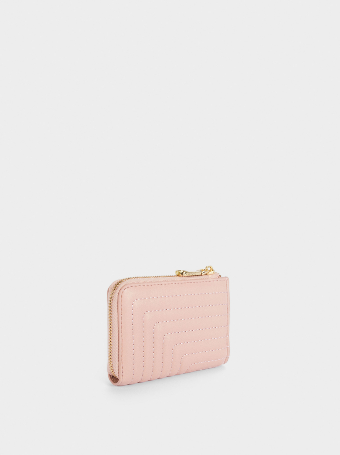Quilted Coin Purse, Pink, hi-res