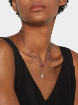 Short 925 Silver Pendant Necklace, , hi-res