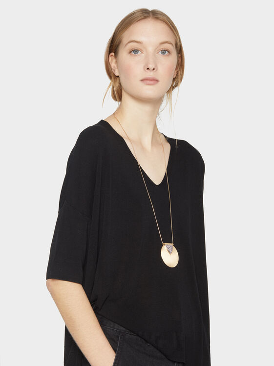 Circle Long Necklace, Multicolor, hi-res