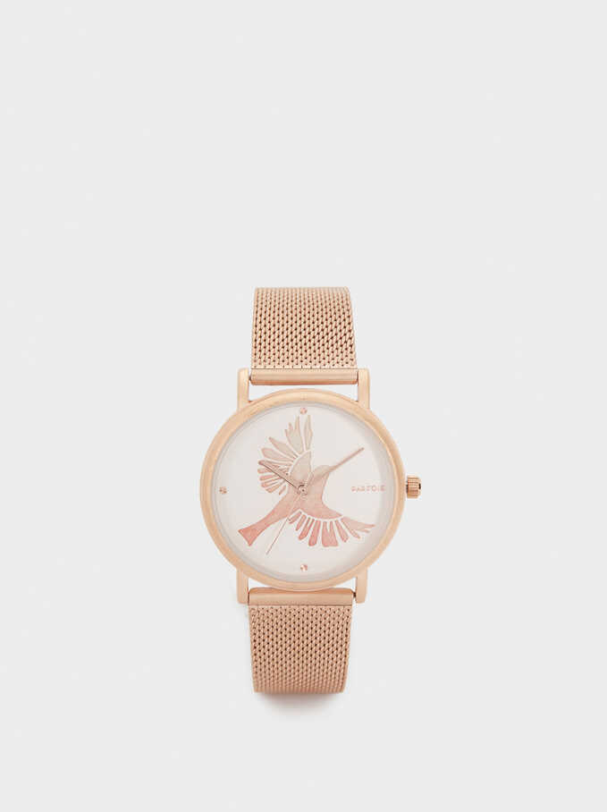 Reloj Rose Gold, Naranja, hi-res