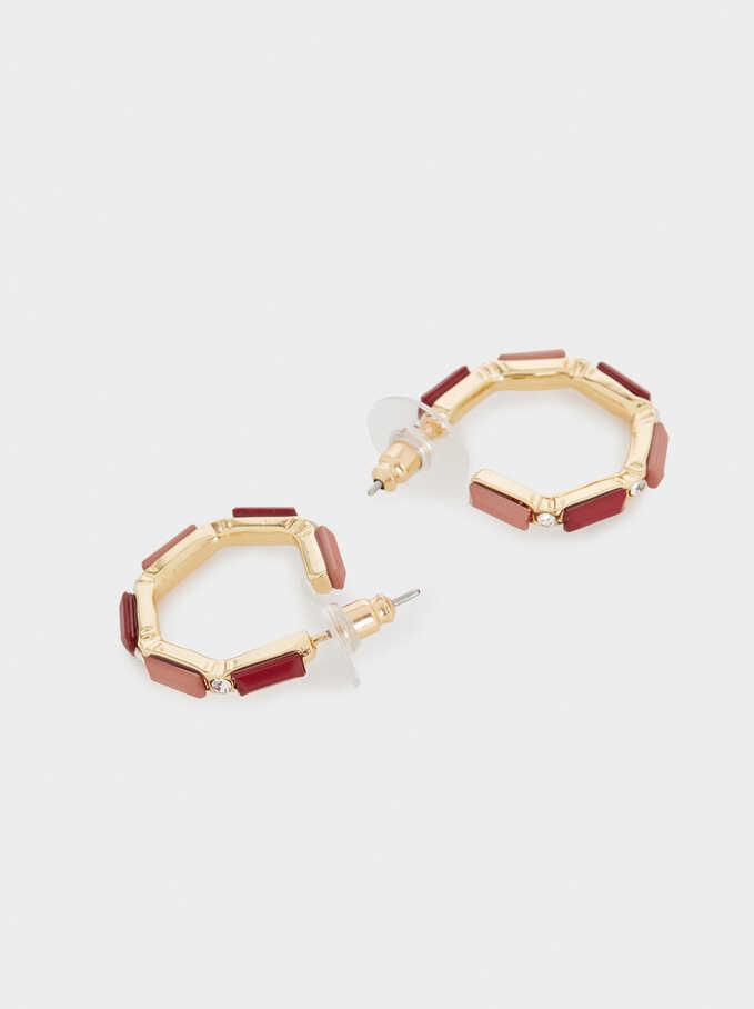 Small Gold-Toned Hoop Earrings, Golden, hi-res