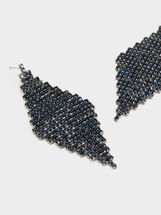 Savage Sparkle Long Earrings, Blue, hi-res