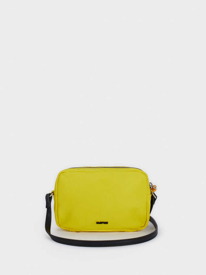 Nylon Crossbody Bag , Yellow, hi-res