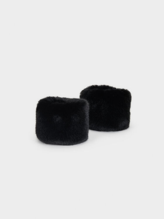 Faux Fur Cuffs, , hi-res