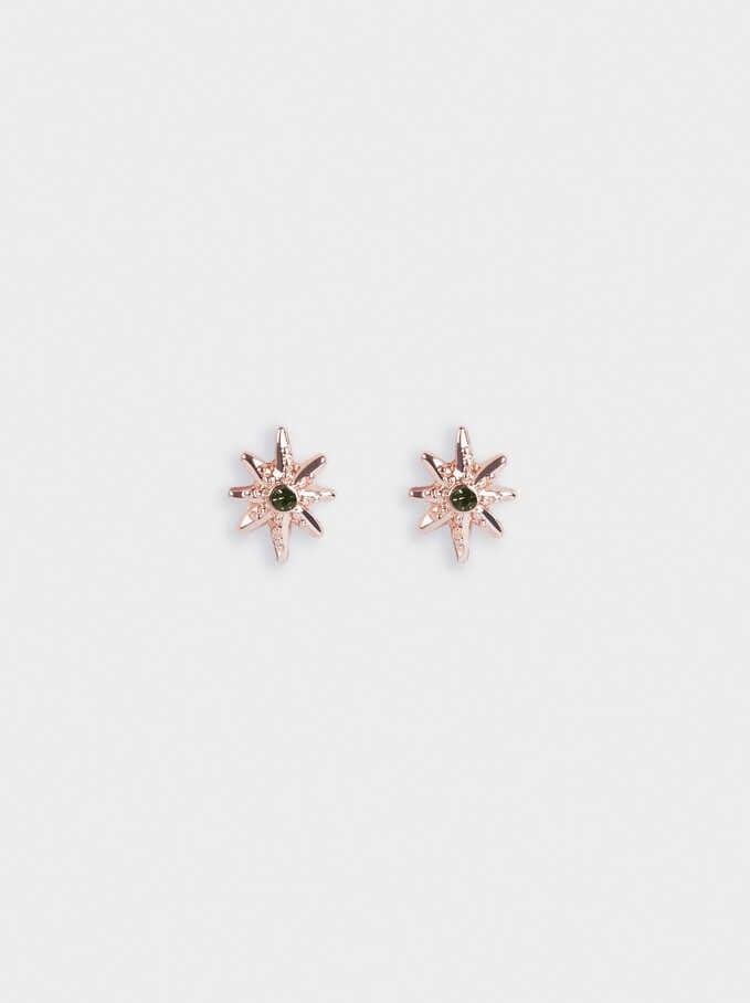 Earrings With Stars, Orange, hi-res