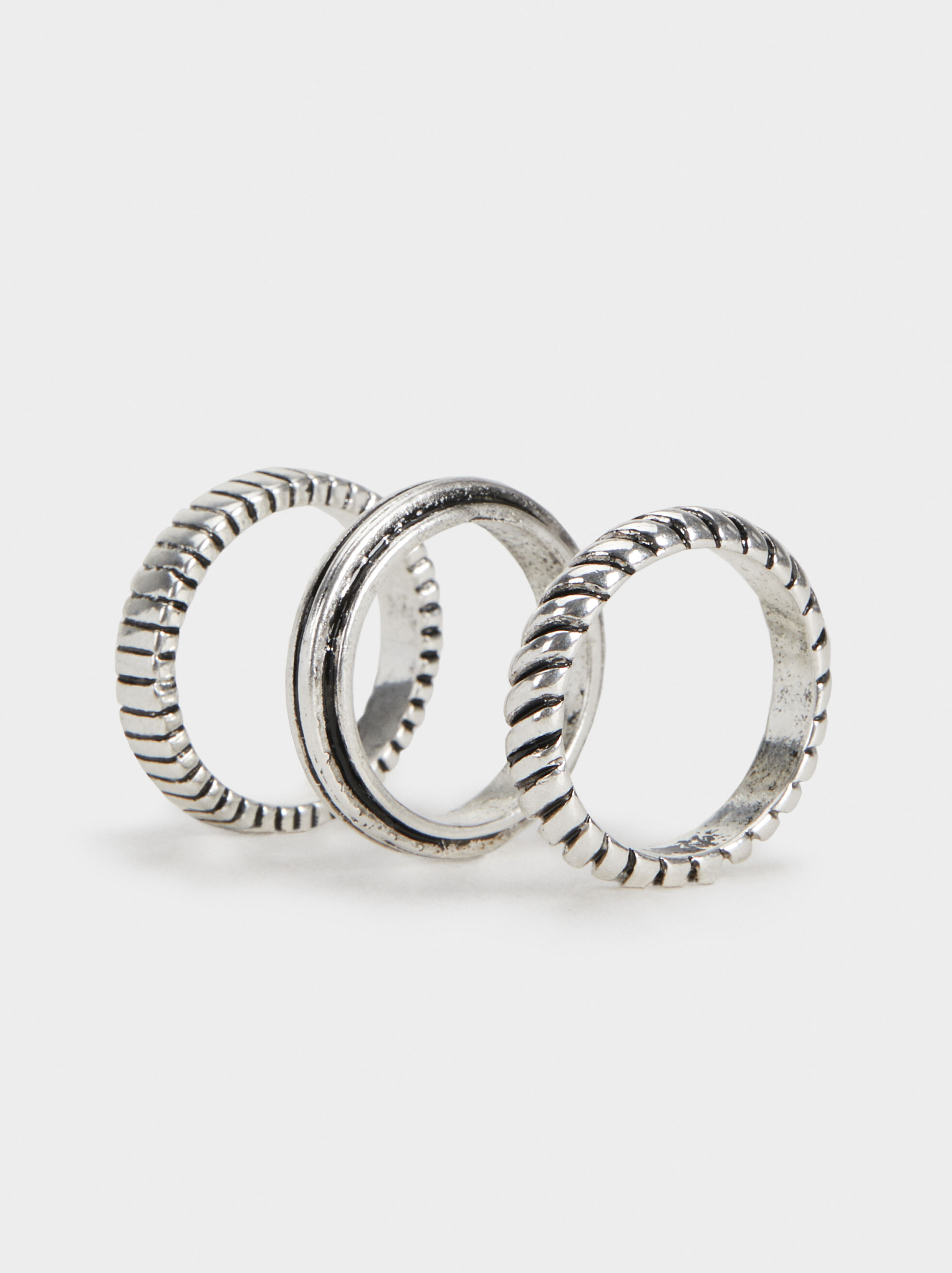 Set Of Silver-Plated Rings, , hi-res