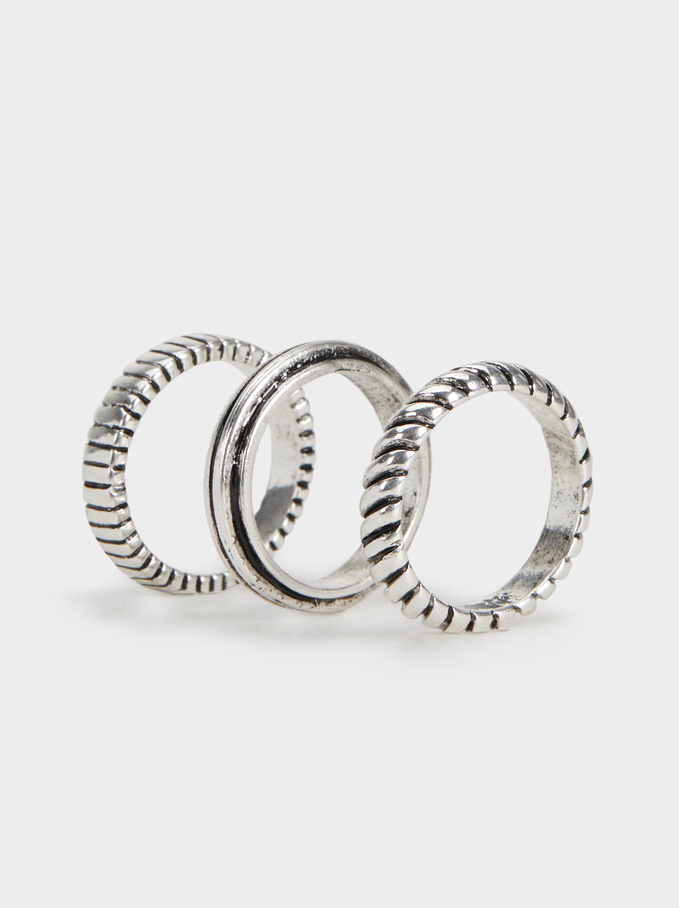 Basic Rings Set, Silver, hi-res