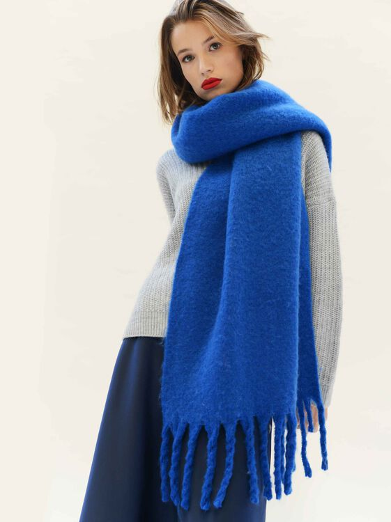 Basic Scarf, Blue, hi-res