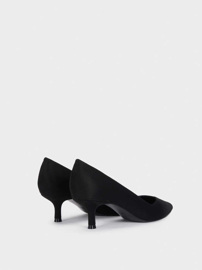 Medium Heel Shoes, Black, hi-res