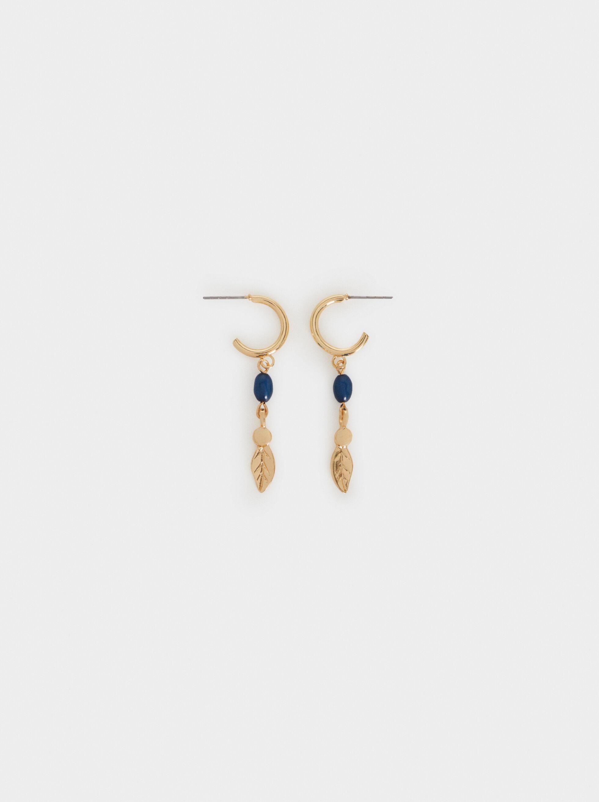 Cherry Blossom Medium Earrings, Navy, hi-res
