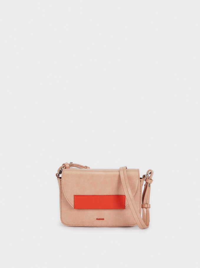 Crossbody Bag With Removable Lining, Pink, hi-res