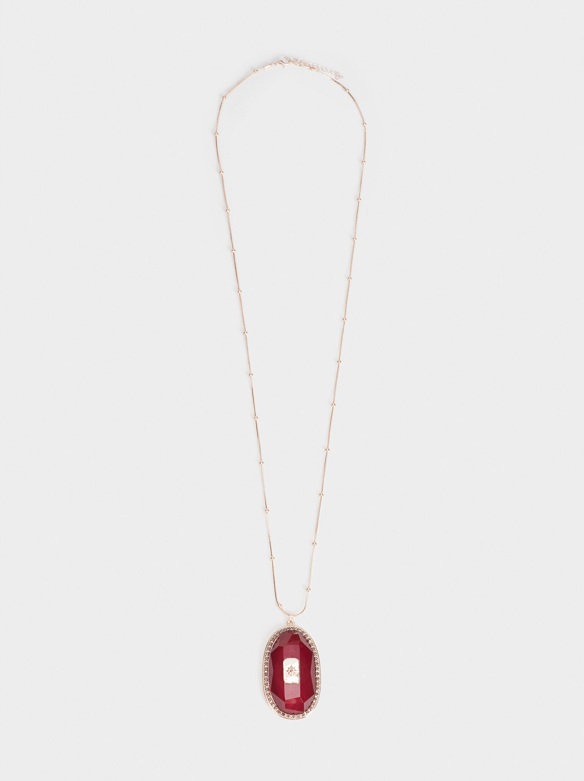 Rose Berry Long Necklace, Bordeaux, hi-res