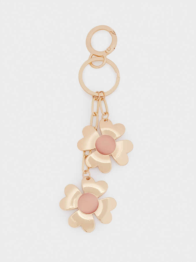 Heart Key Ring, Golden, hi-res