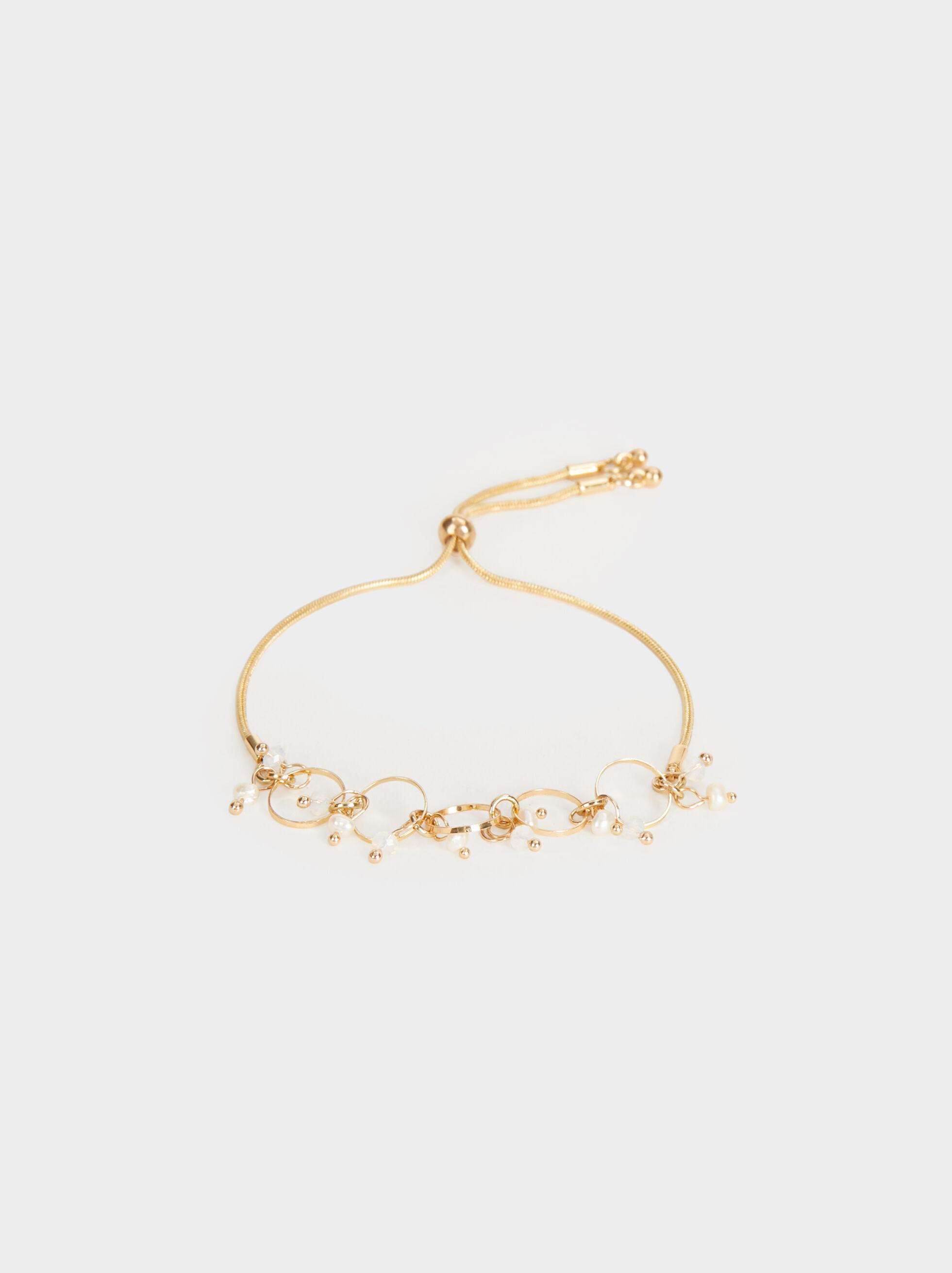 Adjustable Faux Pearl Bracelet, , hi-res